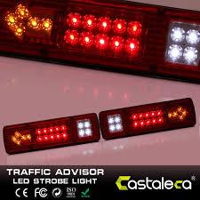 1pair 12v 19 led tail lights turn stop reverse indicator lamp truck trailer van