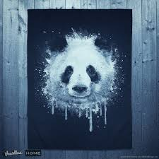 Cool Panda Designs Cool And Artistic Watercolor Graffiti Spray Paint Style