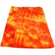 orange tie dye microfiber fleece throw blanket monogramming available