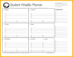 Weekly Homework Planner Printable Monthly Planner For Students School Assignment