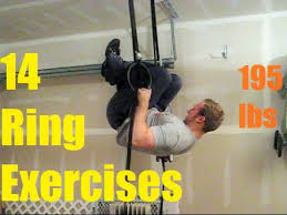 14 interate ring exercises for strength gymnastics bodybuilding 195 lbs you