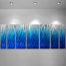 noble large abstract metal wall art sculpture blue metal wall art blue dv studio in teal