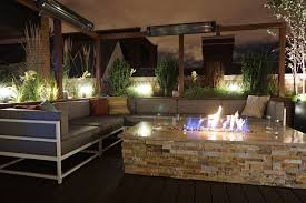 rooftop lighting. Roof Top Deck With Fire Pit Rooftop Lighting A