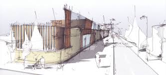 cool architecture drawing. Beautiful Architecture Perspectives U201c Throughout Cool Architecture Drawing