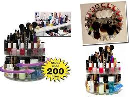 versatile rotating glam caddy cosmetic organizer hold up