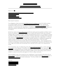Sample Cover Letter For Service Learning Coordinator