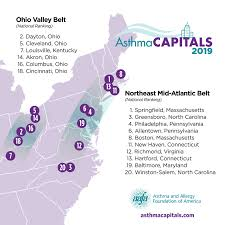 Austin Tx Allergy Chart Asthma Capitals Top 100 National Ranking Aafa Org