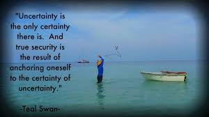 Uncertainty Quote | Teal's Blog