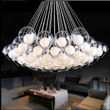 simple modern art bubble ball glass chandelier lighting living room chandelier stylish personality restaurant led wooden chandeliers bubble chandelier from