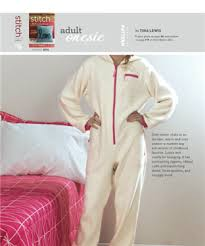 Adult Onesie Pattern Extraordinary Adult Onesie Free Pajama Sewing Pattern For Adults Sew Daily
