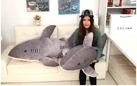 free giant shark pillow plush pillows buy plush pillows at best price with giant  shark sleeping