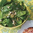 baby blue spinach salad
