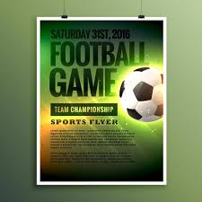 Football Invitation Template Football Game Flyer Design Card Invitation Template Download Free