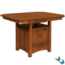 bassett counter height cabinet dining table