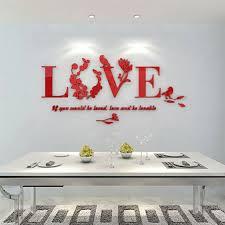 ceramic heart wall art beautiful 3d vase tree love heart crystal arcylic wall stickers decal home