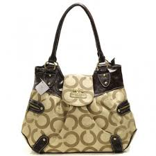 Coach Snap Flap In Signature Large Khaki Satchels BNG