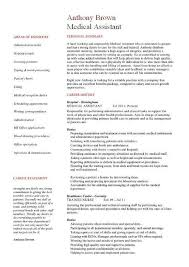 Medical Assistant Resume Examples Enchanting Example Of Medical Assistant Resume Paymentsblogus