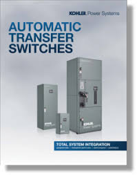 industrial standby generator sets frontier power products kohler transfer switches full line brochure pdf