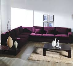 purple sectional.