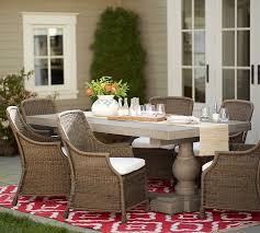 scarlett concrete rectangular dining table saybrook chair set pottery barn