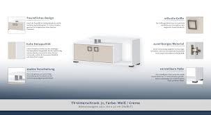 Tv Möbel Tv Schrank Farbe Weiß 49x120x37 Cm