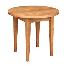classic shaker round end table vermont made solid wood occasional tables