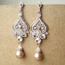ivory pearl chandelier earrings wedding design ideas