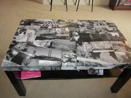 diy decoupage furniture. Photo Decoupage Coffe Table Diy Furniture