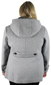simpson plus size coats simpson fit and flare wool winter peacoat coat