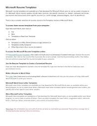 Microsoft Word Resume Template Free template Ms Office Cover Letter Template Free Basic Resume 83