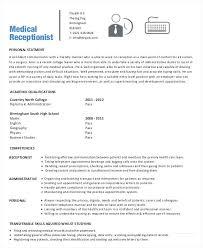 Receptionist Resume Samples Medical Office Cv Sample Australia