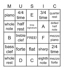 Everyone can see this score. Beginner Music Theory Bingo Card