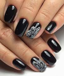 impressive designs red black. Impressive Black Dye Nail Art Designs Red G