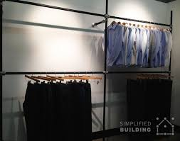 wall mounted clothing racks how to
