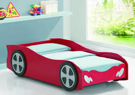 Cool Bed Bedroom White And Red Wooden Beds On Brown Laminate Floor Clipgoo