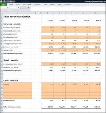 Salon Business Plan Revenue Projection Plan Projections