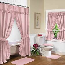 fabric shower curtain w available matching valance bedbathhomecom shower curtain with matching window valance
