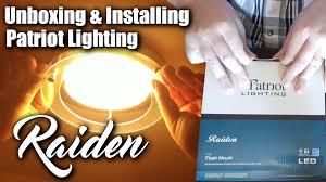 Patriot Lighting Troubleshooting Installing Patriot Lighting Raiden Led Flush Mount Ceiling
