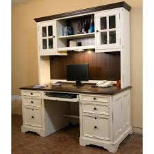 full image for bush fairview 60 l shaped computer desk with hutch in antique white bush