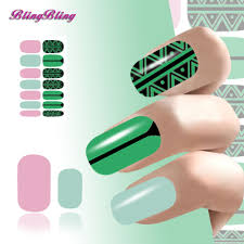 2PCS Nail Art Fingernails Decals Water Transfer Nail Sticker Pink ...