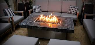 image of gas fire pit table style