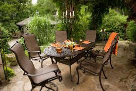 cast aluminum sienna sling patio collection