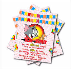 kids birthday party invitations us 5 39 40 off 14 pcs lot tom and jerry birthday party invitations girl baby shower invites kids birthday party decoration supply free shipping in