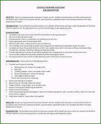 Nursing Assistant Job Description Resume Spectacular 8 Cna