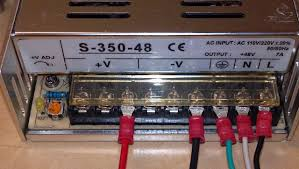 g nema wiring instructions cncrouterparts connect these wires to the v and v terminals on the power supply as shown