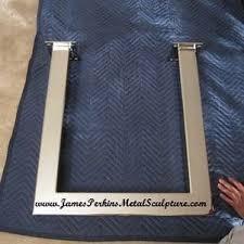 Slab Edge Table Top Custom Chrome / Stainless Steel Table Legs / Slab Edge Table  Top Supports