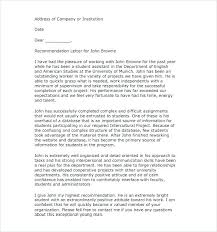 letter for recommendation recommendation letter for student writing recommendation letters for