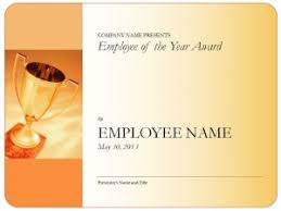 Employee Of The Year Certificate Template Free Powerpoint Templates Microsoft Powerpoint Templates