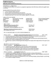 finance major resumes