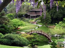 Lawn & Garden:Amazing Large Koi Pond With Bridge In Japanese Garden Design  Ideas Most